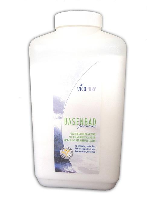 VICOPURA Basenbad Premium, mineralisches Basensalz, basisches Badesalz 2400 g