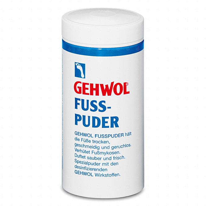 GEHWOL Fußpuder, Spezialpuder für trockene, geruchsfreie Füsse, desinfizierend, 100g