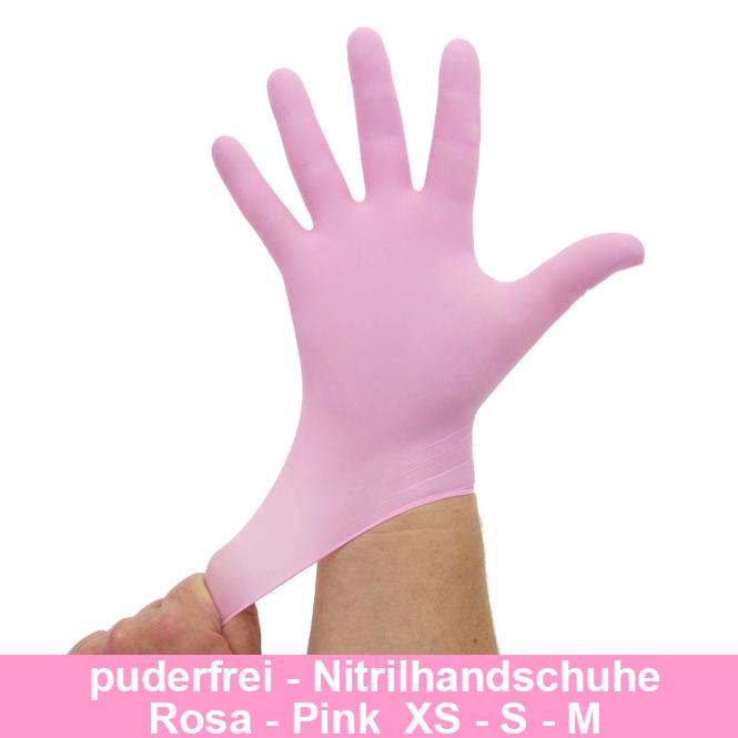 Nitrilhandschuhe Pink Rosa, Einmalhandschuhe, Einweghandschuhe,100 Stück