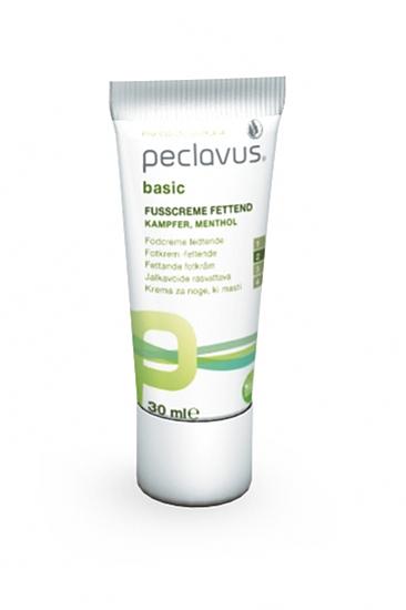 Peclavus Basic Fußcreme fettend, Fettpflege Fußpflegecreme für rissige Fußhaut