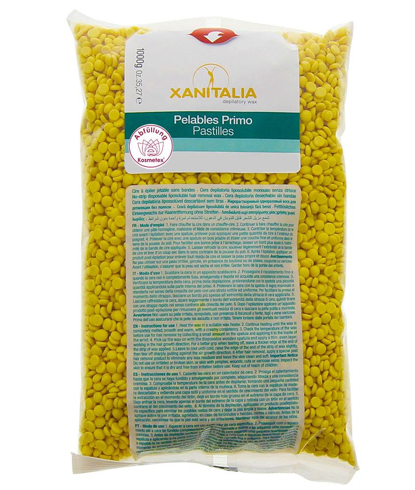 Wachsperlen Argan Pelables Primo, Kosmetex Premium Pastilles Waxing ohne Vliesstreifen für soft and stretchy, 1000g
