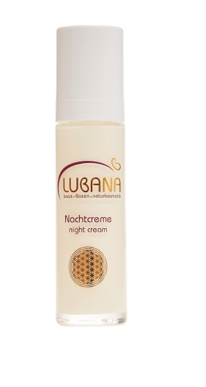LUBANA basische Nachtcreme pH 7,6, ohne Silikone, Nachtpflegecreme, Basencreme spendet Feuchtigkeit, 50 ml