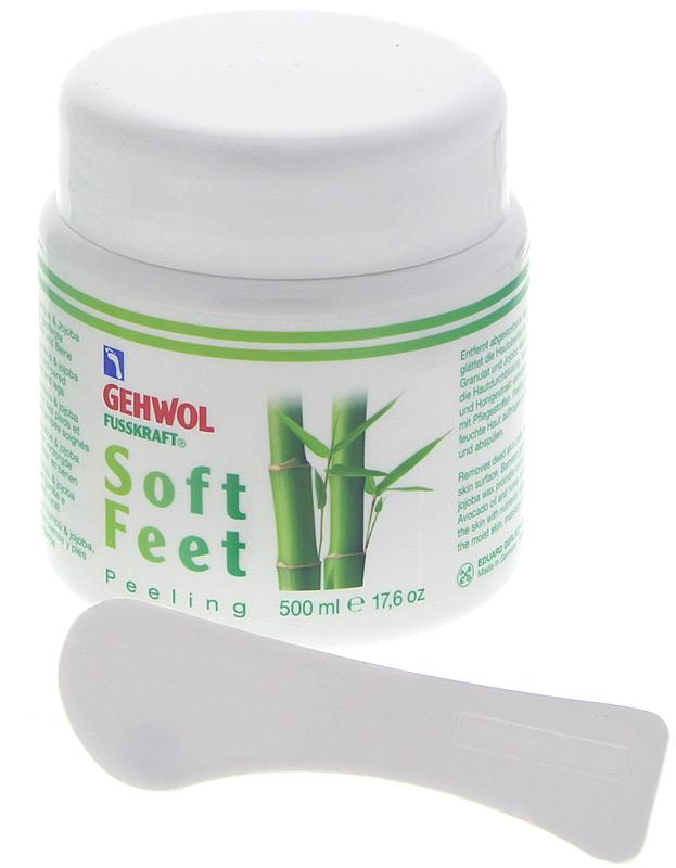 GEHWOL Fusskraft Soft Feet Peeling Fußpeeling mit Bambus, Jojoba 500 ml