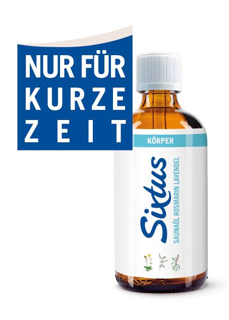 Sixtus wohl Saunaöl Rosmarin Lavendel 100ml verleiht ein befreiendes Gefühl