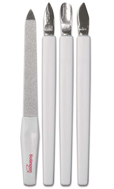 Maniküre / Pediküre Set, 4 tlg., mit Solingen Instrumenten zur Nagelpflege