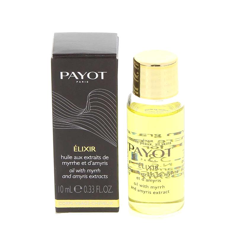 PAYOT Élixir Trockenöl mit Myrrhe und Amyris Auszügen, für Haut und Haare, LesCorps, Probiergröße, 10 ml