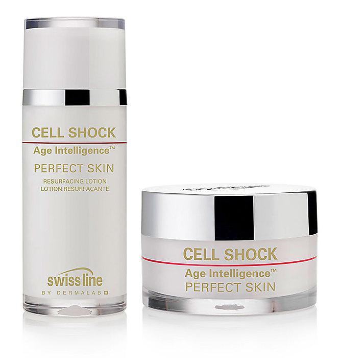 Swiss line Cell Shock Age Intelligence Perfect Skin, einmonatige Verjüngungskur gegen Falten, Pigmente, 2-teilig