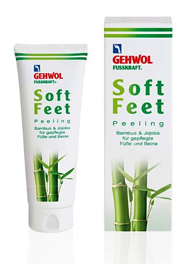 GEHWOL Fusskraft Soft Feet Peeling Fußpeeling mit Bambus, Jojoba 125 ml