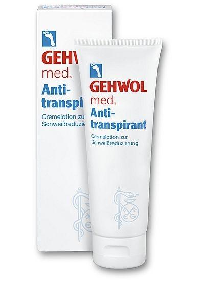 GEHWOL med. Antitranspirant, Fusscremelotion geruchsfreie, trockene Füsse, Fußpilzschutz, 125 ml