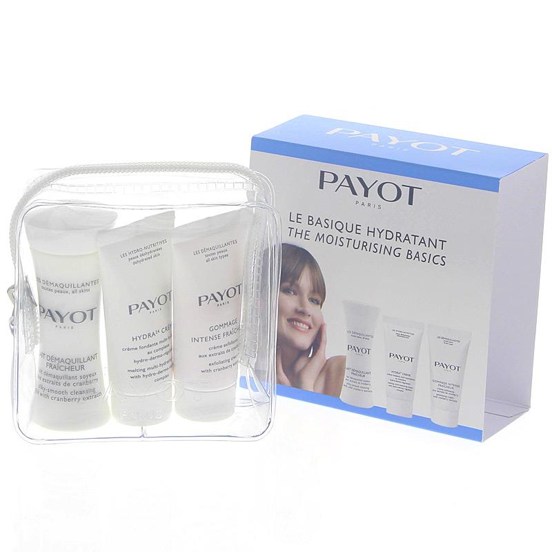 Payot Reise-Set Le Basique Hydratant,normal+trocken Démaquillant Reinigungsmilch,Hydra 24,Gommage Intense Fraicheur