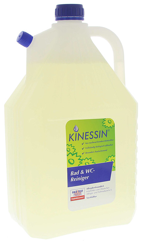 KINESSIN Bad- und WC-Reiniger entfernt mühelos Kalkschleier, Seifenreste, Urinstein ... 5 Liter