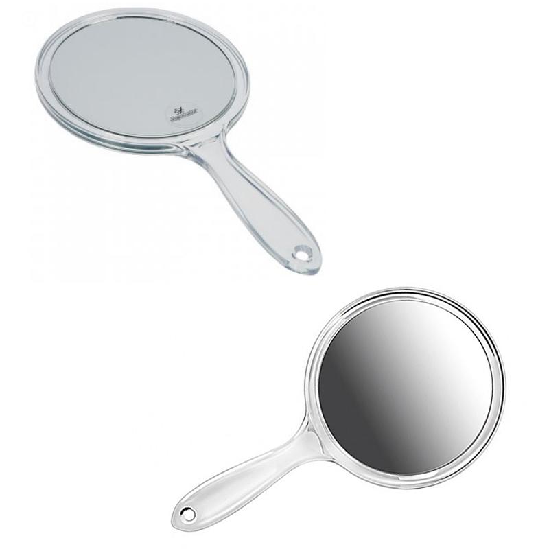 Kosmetex Handspiegel mit 3-fach oder 5-fach Vergrößerung, Acryl, 2 Spiegelflächen, Kosmetik-Spiegel