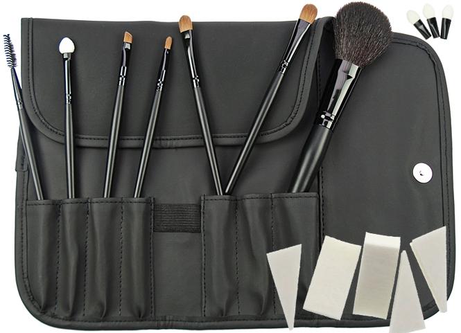 7 Kosmetik Pinsel, Kosmetikpinsel Set Puderpinsel. Pinselset mit Tasche