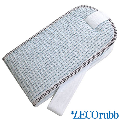 LECOrubb Massagegurt, Peelinggurt für den Rücken, Massage Peeling Gurt Blau