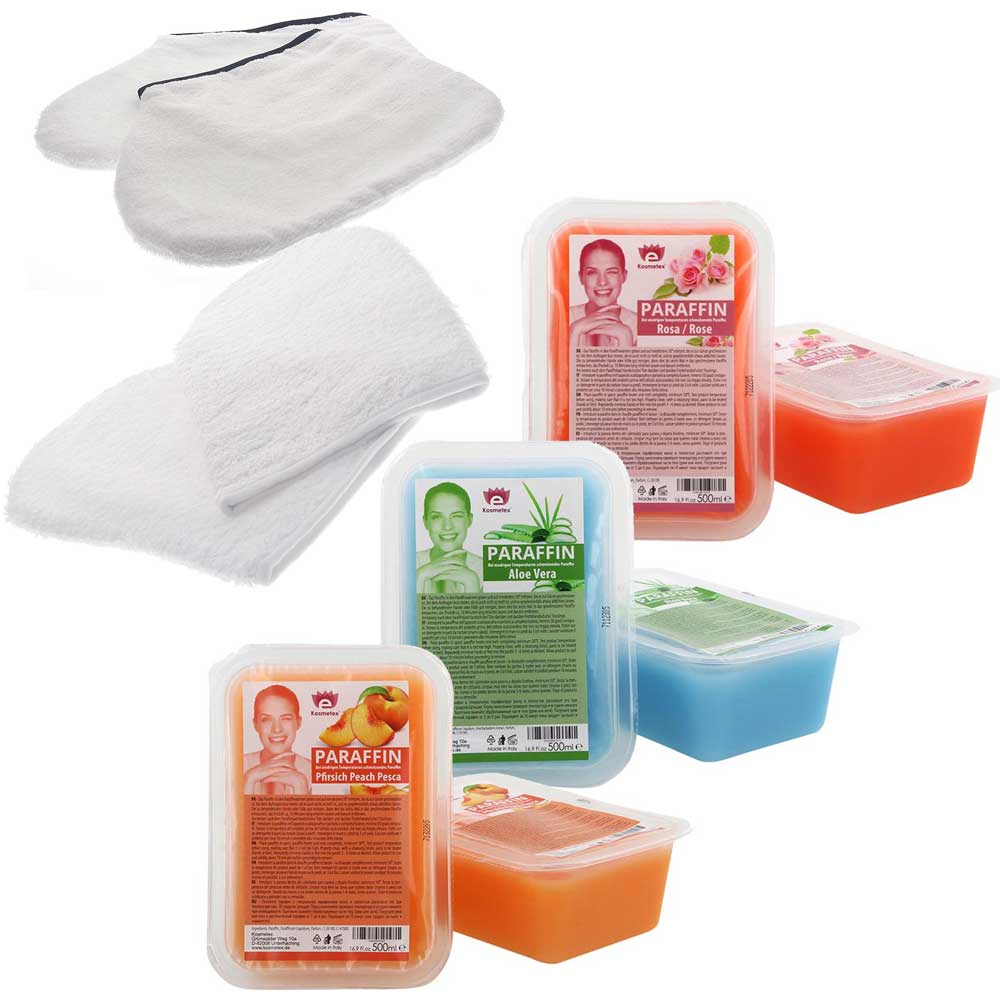 Kosmetex Paraffin-behandlung, Paraffinbad, Wachsbad, Paraffinpflege für trockene, empfindliche Haut