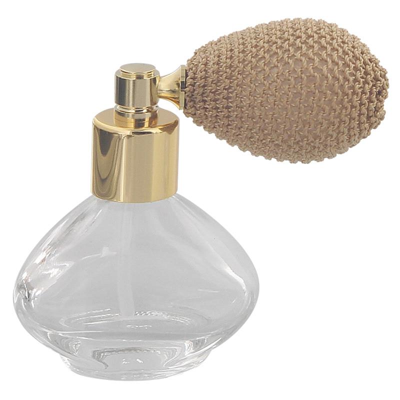 Glas-Flacon, Tisch-Zerstäuber für Parfüm, Kosmetex Pump-Zerstäuber 15 ml