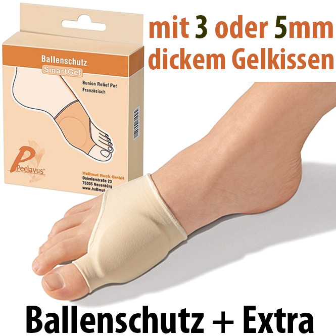 RUCK SmartGel Ballenschutz extra, Ballen Gel Polster, Druckschutz zum Überziehen auf den Fuß Gr. 7