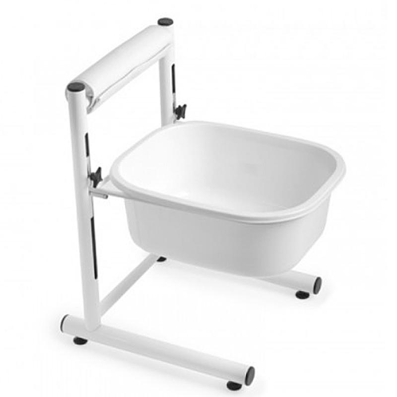 Fußbad Schüssel, Fuß-Badewanne mit Metall Gestell Fußablage, Kosmetex, Mobile kleine Fußpflege