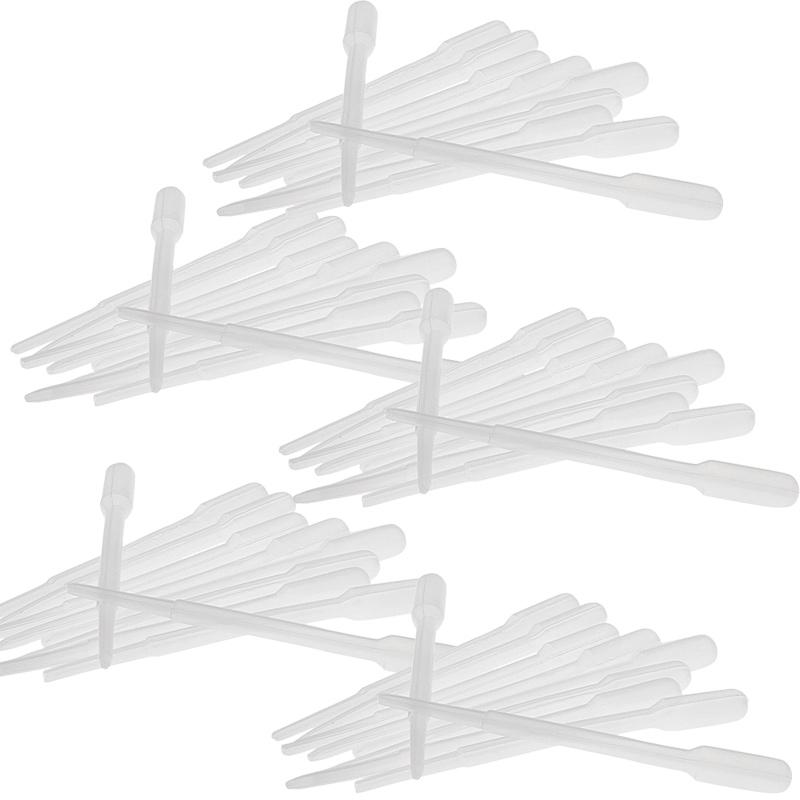 Kosmetex 50x Einweg-Pipetten, Pasteurpipetten, 2,4ml Futter-Pipette für Laborbereich, Küche, Basteln 50 Stück