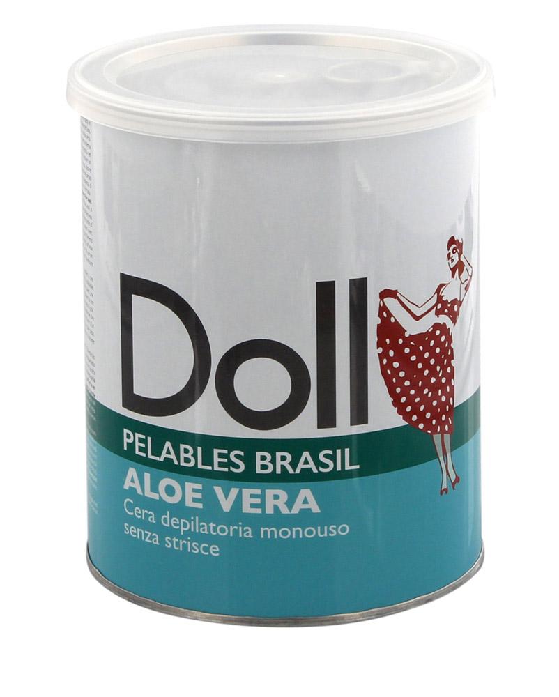 Kosmetex Aloe Vera Doll Wachs, Pelables Primo Wachsdose für flexibles Waxing ohne Vliesstreife, 800g