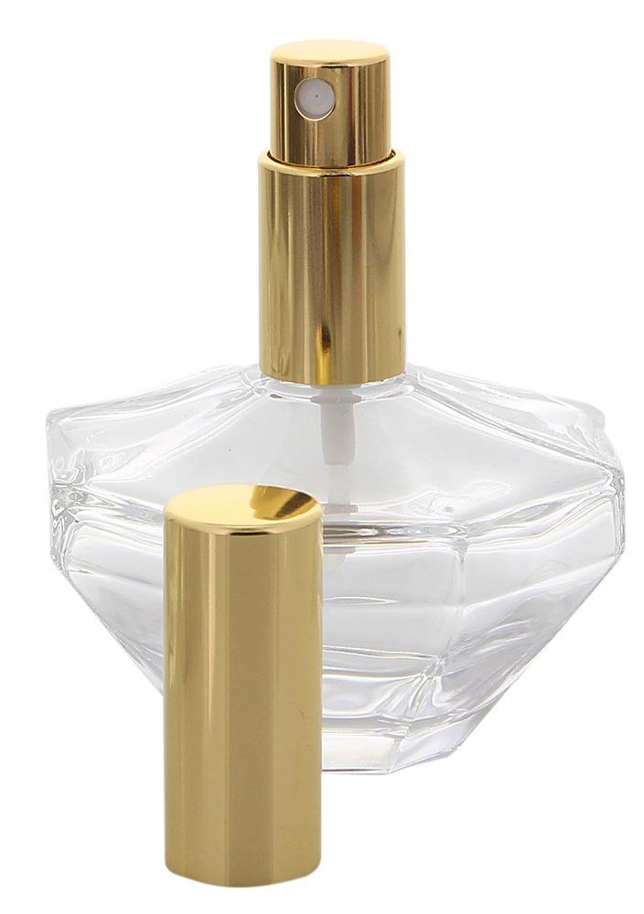 Glas-Flacon, Oktogon Zerstäuber Flasche für Parfüm, Kosmetex Pump-Zerstäuber 50 ml