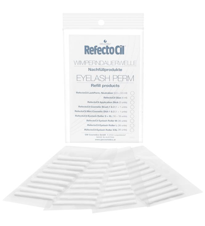 RefectoCil Refill Wimpernrollen für Wimpernwelle. 36 Stk., 5 Größen wählbar.