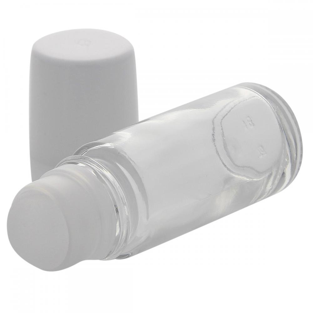 Klare Deostick Flasche 50ml, Kosmetex Roll-On Deo-Roller zum selbst Befüllen