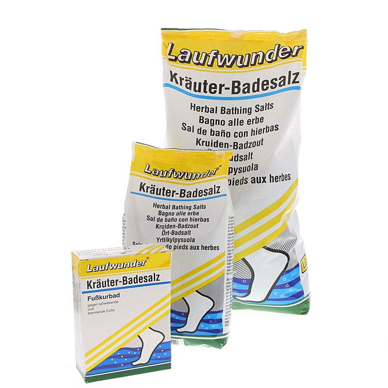 Laufwunder Kräuter-Badesalz, Fußbad bei überanstrengten und verhornten Füßen