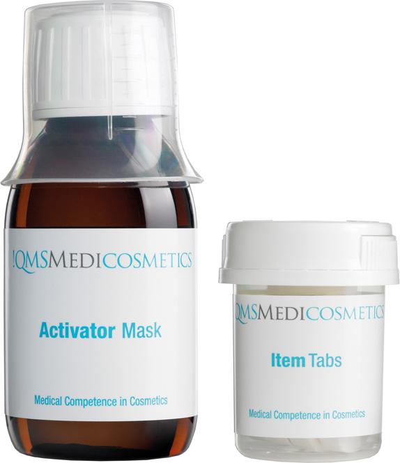 QMS Activator Mask, Gesichtsmaske, Vließ Feuchtigkeitsmaske, Hyaluron, 100 ml, 8 Tabs