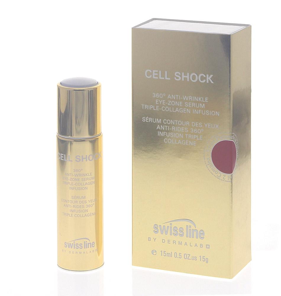 Swiss line Cell Shock Age Intelligence, 360° Augenserum mildert Falten, strafft die Haut, gegen Augenschatten, 15ml