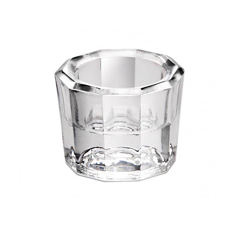 Dappenglas, zum anrühren mischen von Wimpernfarbe, Acrylpulver, Liquid, Dappen Dish Glas Weiß