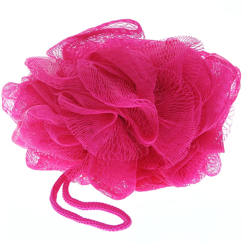 Seifschwamm, Kosmetex Mesh Duschschwamm, Badeschwamm zum Einseifen, Peelingschwamm Pink-Fuchsia
