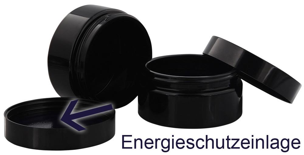 Miron-Glas Violett Tiegel flach 100 ml Energieschutz Deckel, Leere Kosmetex Violettglas flache Dose, Kosmetik-Dose