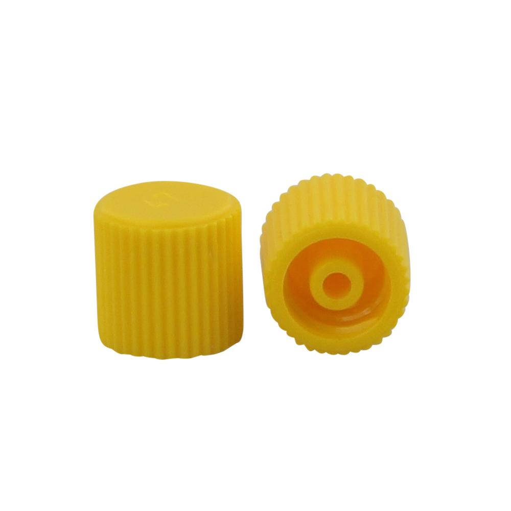 Gelbe Verschlusskappen Kosmetex - für Luer Lock In Systeme zum Verschließen ... 100 Stück