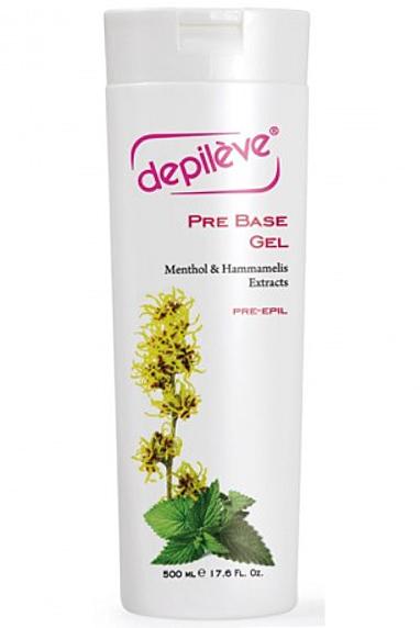 Depileve Pre Base Gel, Vorbereitungsgel, für Waxing, Haarentfernung, reduziert das Schmerzempfinden, 500ml