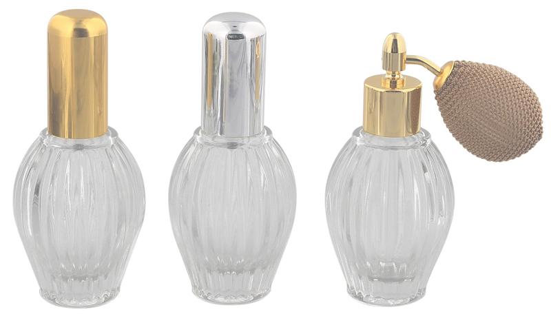 Glas-Flacon, Tisch-Zerstäuber für Parfüm, Kosmetex Pumpzerstäuber (mit Ball)
