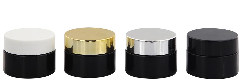 Violett Miron Glas-Tiegel m. Deckel, 15 ml Kosmetex Kosmetik-Tiegel, Salbentiegel, Cremedose 4× mix Set