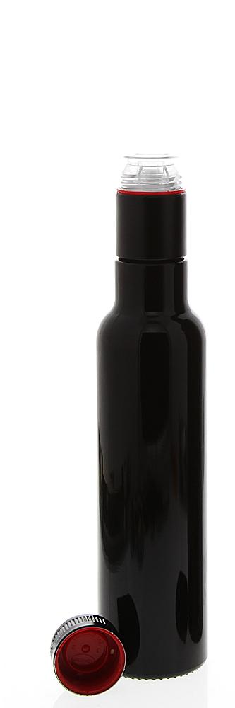 Mironglas Ölflasche 250 ml, Violett-Glas Essig-Flasche, Kosmetex Lichtschutz-Flasche Miron, rund 1 x 250 ml