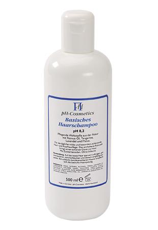 Basisches Haarshampoo pH 8,2, schonende Pflege mit Basenshampoo, ph-Cosmetics 500 ml