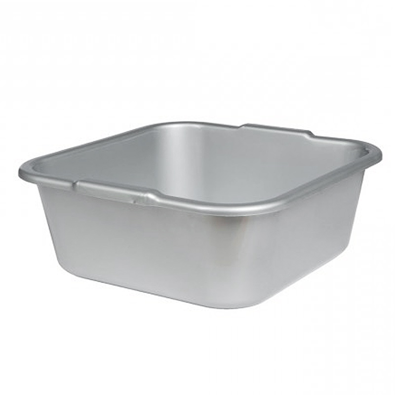 Fußbad Schüssel, Universell viereckige Fuß-Badewanne, Kosmetex, Silber-Grau Farben 39x39 cm