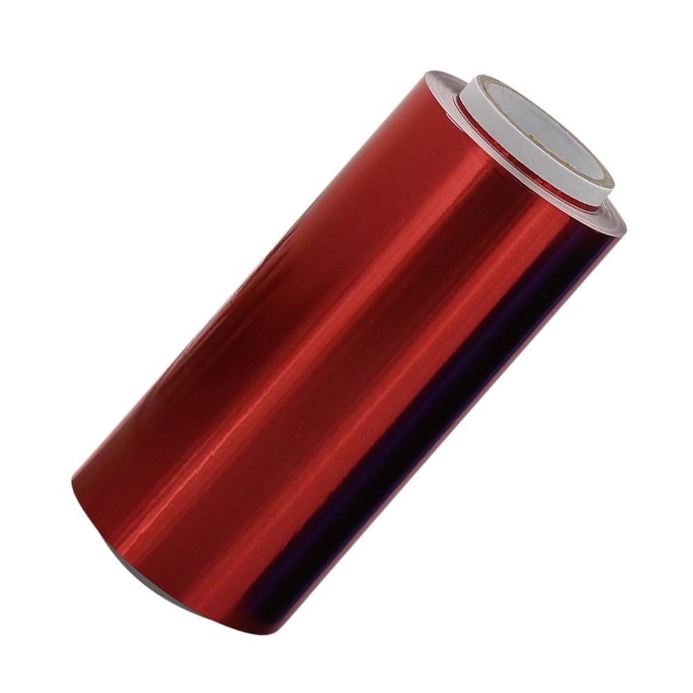 Rote Friseur Premium Alufolie 12 cm, Strähnenfolie Starke Kosmetex Alu Folie mit 15 Micron Rot