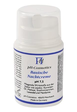 Basische Nachtcreme pH 7,5 Basencreme für die Nacht, ph-Cosmetics, 50 ml