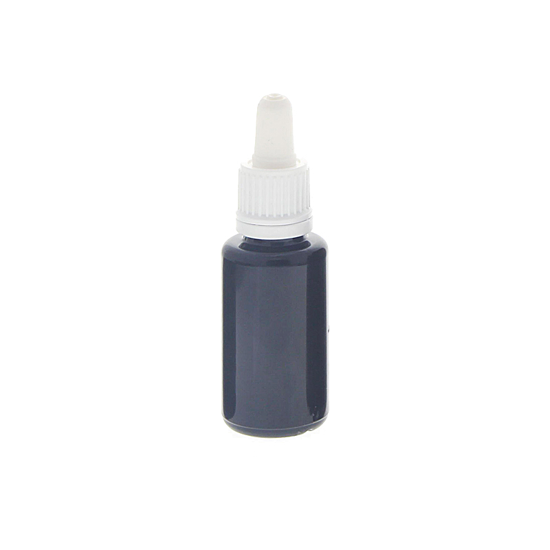 Violettglasflasche mit Pipette, leere violette Glasflasche, Kosmetex Pipettenflasche mit Pipettenmontur 20 ml