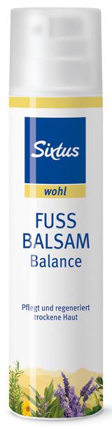 Sixtus Sixtuwohl Fußbalsam Balance. Sante Balsam Pflege für empfindliche Füße 30 ml