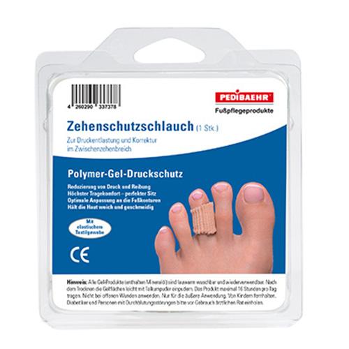 PediBaehr Polymer Gel Druckschutz, Zehenschutz Schlauch, 72 cm lang, bei Hühneraugen oder Warzen, mittel, 1 Stück