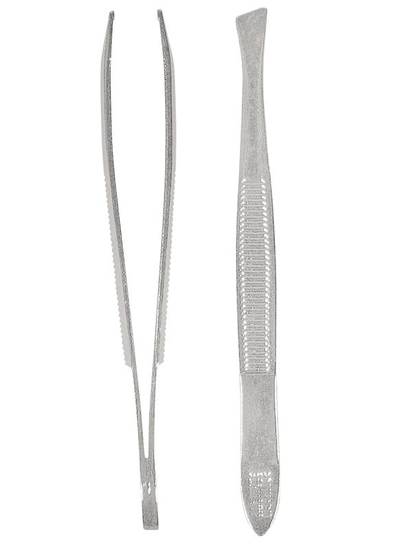 Solingen Qualitätspinzette, hochglänzend, präzise ausgeschliffene Greifkanten 5 mm breit, schräg