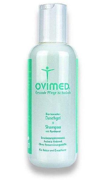 Ovimed Bio-basisches Duschgel und Shampoo mit Panthenol für Kopfhaut, Gesicht und Körper, 100ml 100 ml