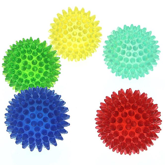 Noppenball, Akupressurball, Igelball, klein 5 cm Massageball mit Noppen für die Reflexzonenmassage Orange