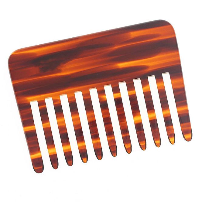 Afro Kamm, für voluminöses Haar. Grober Kamm für dichtes, lockiges, nasses und langes Haar.