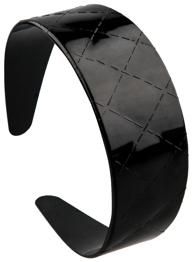 Haarreif, Kosmetex , Haarschutzreifen, Kosmetik Haarreifen mit Muster karriert 1× schwarz karriert